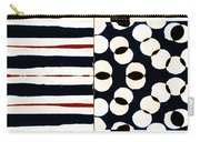 Red White Black Number 1 Carry-all Pouch