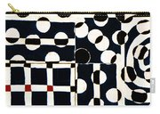 Red White Black Number 2 Carry-all Pouch by Carol Leigh