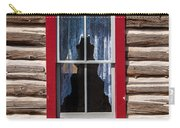 Red Window Log Cabin - Idaho Carry-all Pouch