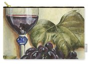 Red Wine And Grape Leaf Carry-all Pouch by Debbie DeWitt