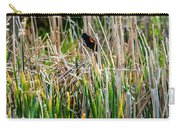 Red-winged Black Bird In The Cattails Carry-all Pouch
