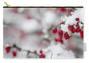 Red Winter Berries Under Snow Carry-all Pouch