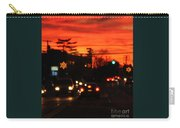 Red Winter Sunset Over Long Island Suburbs Carry-all Pouch