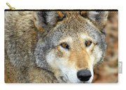 Red Wolf Portrait Carry-all Pouch