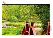 Red Wooden Bridge Carry-all Pouch