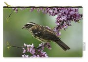 Redbud With Grosbeak Carry-all Pouch