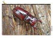 Reddish-brown Stag Beetle - Lucanus Capreolus Carry-all Pouch