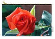Reddish Pink Rose Carry-all Pouch