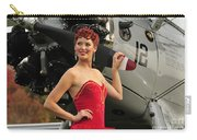 Redhead Pin-up Girl In 1940s Style Carry-all Pouch by Christian Kieffer