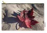 Reds And Purples - Deep Red Maple Leaf And Its Shadow Carry-all Pouch