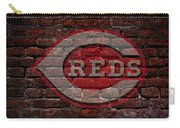 Reds Baseball Graffiti On Brick  Carry-all Pouch
