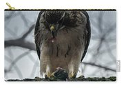 Redtail Hawk And Mouse Carry-all Pouch