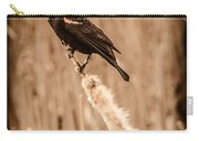 Redwing Blackbird On Cattail Carry-all Pouch