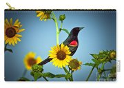 Redwing In Sunflowers Carry-all Pouch