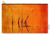 Reeds And Reflection In Orange Carry-all Pouch