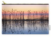 Reeds Reflected In Water At Dusk Ile Carry-all Pouch