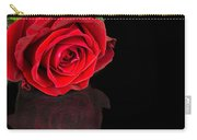 Reflected Red Rose Carry-all Pouch