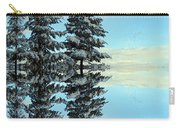 Reflecting Evergreens In Winter Carry-all Pouch