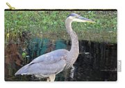Reflecting Great Blue Heron Carry-all Pouch