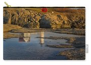 Reflecting On Nubble Lighthouse Carry-all Pouch by Susan Candelario