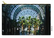 Reflecting On Palm Trees And Arches Carry-all Pouch by Georgia Mizuleva