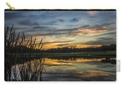 Reflection At Sunset With Cattails Carry-all Pouch