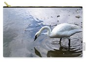 Reflection Of A Lone White Swan Carry-all Pouch