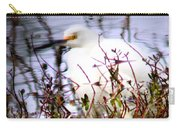 Reflection Of A Snowy Egret Carry-all Pouch