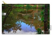 Reflection Of House On Water Carry-all Pouch