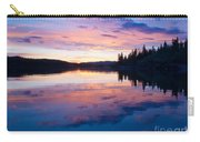 Reflection Of Sunset Sky On Calm Surface Of Pond Carry-all Pouch