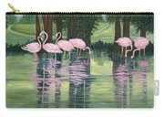 Reflections In Pink Carry-all Pouch