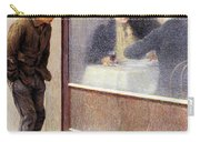 Reflections Of A Hungry Man Or Social Contrasts Carry-all Pouch by Emilio Longoni