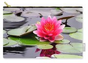 Reflections Of A Pink Waterlily  Carry-all Pouch