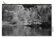 Reflections Of Sedona Black And White Carry-all Pouch