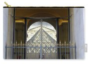 Reflections Of The Musee Du Louvre In Paris France Carry-all Pouch