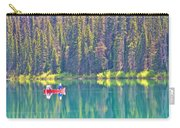 Reflective Fishing On Emerald Lake In Yoho National Park-british Columbia-canada  Carry-all Pouch