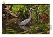 Reflective Great Blue Heron Carry-all Pouch