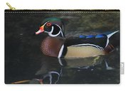 Reflective Wood Duck Carry-all Pouch by Deborah Benoit