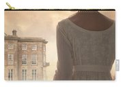Regency Period Woman With Mansion In Background Carry-all Pouch