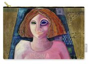 Regina, 2004 Acrylic & Metal Leaf On Canvas Carry-all Pouch
