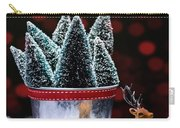 Reindeer With Christmas Trees Carry-all Pouch