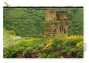 Reinfels Castle Ruins And Wildflowers In The Rhine River Valley 1 Carry-all Pouch