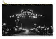 Reno Nevada The Biggest Little City In The World. The Arch Spans Virginia Street Circa 1936 Carry-all Pouch