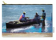 Repairing The Net At Lake Victoria Carry-all Pouch