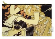 Reproduction Of A Poster Advertising 'marquet Ink' Carry-all Pouch by Eugene Grasset