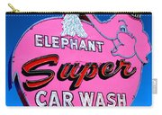 Elephant Super Car Wash Sign Seattle Washington Carry-all Pouch