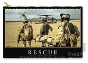 Rescue Inspirational Quote Carry-all Pouch by Stocktrek Images