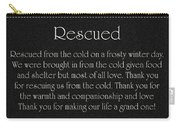 Rescued Carry-all Pouch by Andee Design