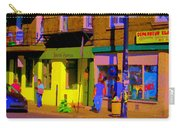 Restaurant El Pintxo Rue Roy Plateau Montreal Basque Food Spanish Cafe City Scene Art Carole Spandau Carry-all Pouch