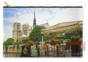Restaurant On Seine Carry-all Pouch by Elena Elisseeva